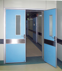 Galavanized sheet manual hospital door